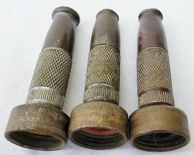 Lot 3 Vintage Chicago Brass Nozzles Adjustable Garden Water Hose Spray