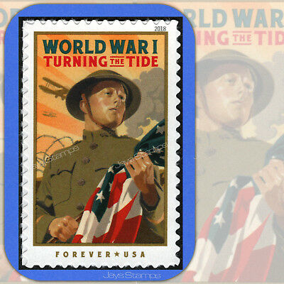 2018  WORLD WAR I  Turning the Tide  MINT  Single  USPS Forever®  Stamp # 5300