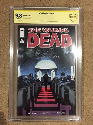 The Walking Dead #74 CBCS 9.8 Signed By Seth Gilliam Father Gabriel Image Comics