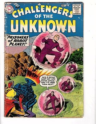 Challengers Of Unknown  #8   Dc 1958 G/vg Kirby/wood Classic Hard To Find Rare