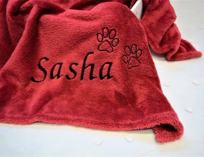 Extra Large Personalised Pet Blanket 200cm x 140cm - XL Embroidered Blanket