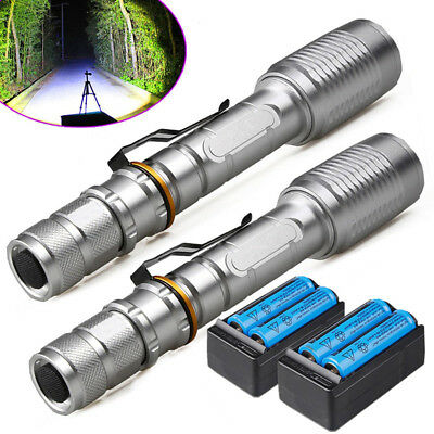Lot Tactical Police 90000 Lumens 5 Modes LED Flashlight Cool White Light Torch