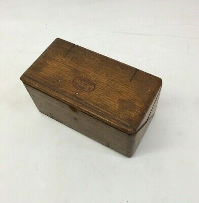 Vintage Sewing Box Wooden storage for Thread needles Antique, 1889 February 19th