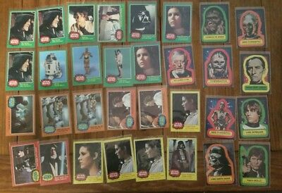 Lot of (32) ~ 1977 Topps® Star Wars Original Series Cards VERY CLEAN many NM