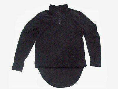 """NEW - Latest Issue BLACK Fleece Thermal PCS Shirt Size SMALL 160/80 (36"""" Chest)"""