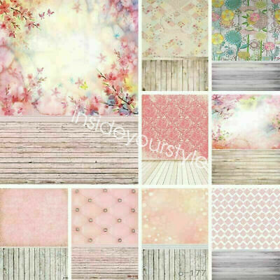 US Vintage Photography Backdrop Photo Background Tie-Dye/Wood Plank/Flower Wall