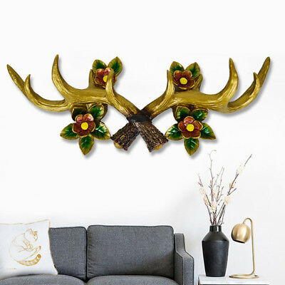 Deer Antler Wall Hook Wall Hangings Sculpture State for Christmas Decoration