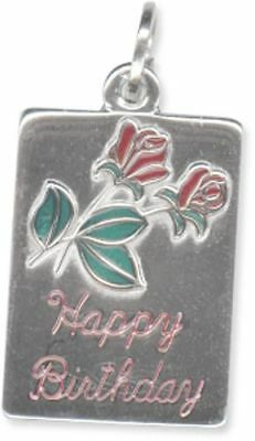 beaucraft sterling silver happy birthday wenamel charm