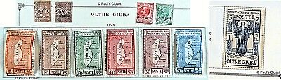Oltre Giuba Italian Colony 1925-16 Mint Og 11 Stamps Estate Collection Vf