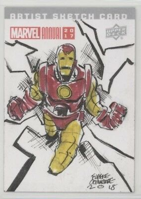 2017 Upper Deck Marvel Annual Sketch Cards IRON MAN - By Eugene Commodore 1 of 1