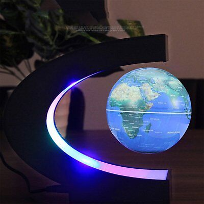 3 inch Rotatable Magnetic Levitation Globe Floating Earth World Map Book