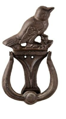 Prinz 4.5 X 1.25 X 8.25 Inch Cast Iron Bird Door Knocker In Antique Brown Finish