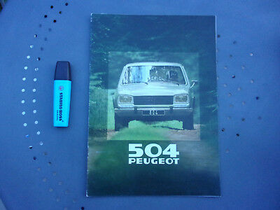 Catalogue publicitaire Peugeot 504 Berlne, AM 1980