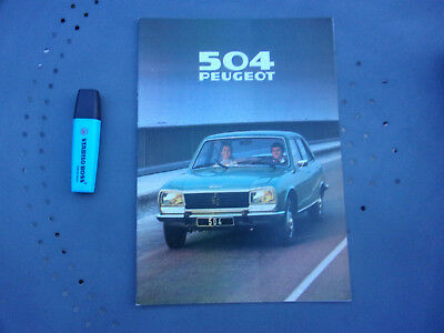 Catalogue publicitaire Peugeot 504 Berline, AM 1979