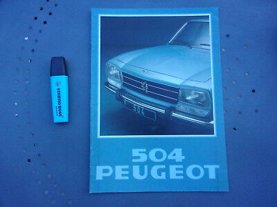 Catalogue publicitaire Peugeot 504 Berline, AM 1978