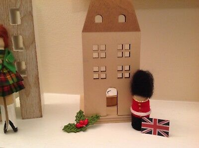 Adorable iconic Queens Guard peg doll, unique, handcrafted,