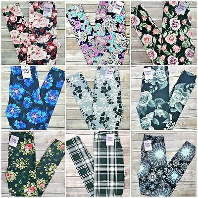 Lot of 5 Printed Leggings Tribal Aztec Floral Paisley Assorted Wholesale OS