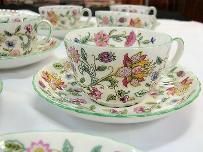Assorted 23 Pc Lot MINTON Haddon Hall Bone China Replacements Discontinued Green
