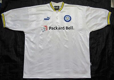 LEEDS UNITED AFC home Shirt  jersey PUMA 1996-1998 The Peacocks adult SIZE XL