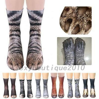 Adult /Kid Animal Feet Socks Unisex Animal Paw Crew Socks Sublimated Print Socks