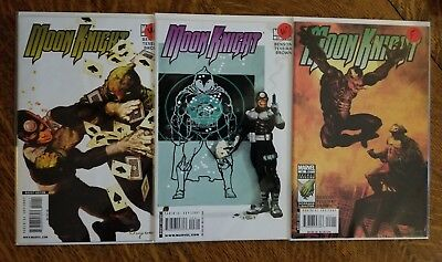 Moon Knight (2006) lot of 3 - 22 Fine, 23 VF, 24 VG - Venom, Bullseye, Suydam