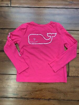 581007dbd VINEYARD VINES GIRLS Long Sleeve Vintage Whale Graphic Tee Size M ...