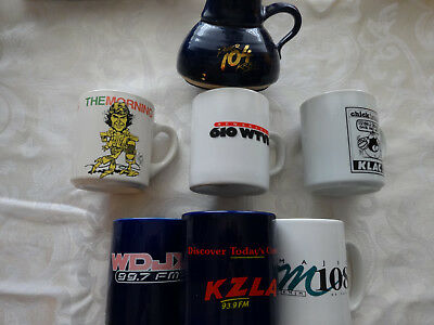 Variety of Different Radio Station Logo'd Coffee Mugs incldg. one from Don Imus!