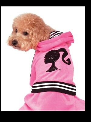 Barbie Sporty Girl Track Suit Dog Pet Halloween Costume - XL - New