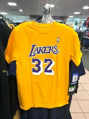 205d9f376a3 YOUTH LOS ANGELES Lakers Magic Johnson Adidas Yellow Jersey T-Shirt ...