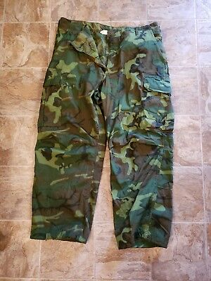 Vietnam US Army ERDL camo pants RARE size Large short 1969 new old stock!!