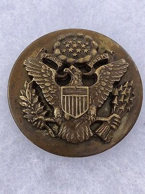 Rare Wwi Officers Hat Badge With Screw On Back