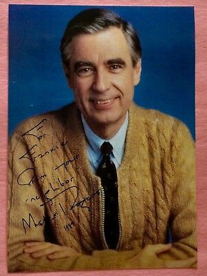 Mister Fred Rogers Signed Autographed 5x7 RP Photo Mr. Rogers Neighborhood
