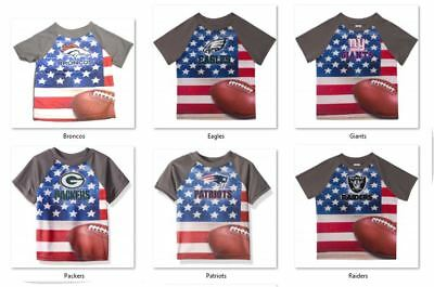 NFL T-Shirt Flag Design Short Sleeve Gerber Youth Select Team and Size Below
