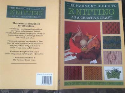 The Harmony Guide To Knitting  As A Creative Craft Book Patterns 250 Pages Knit