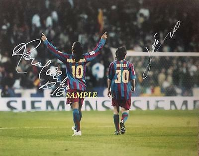 0c8417f53 Ronaldinho Lionel Leo Messi Reprint Autographed 8X10 Signed Picture Photo  Soccer