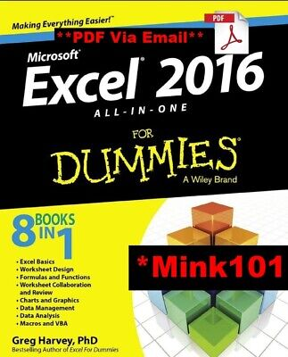 Microsoft Excel 2016 : All-in-One for Dummies - DIGITAL EDITION