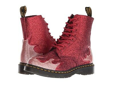 f7d47b52cc32 Dr. Martens Women's 1460 Pascal Flame Red Glitter Boot ALL Sizes!! RARE!