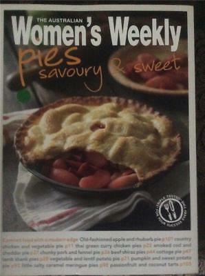 AUST WOMENS WEEKLY COOKBOOK  RECIPES master CHEF  PIES SAVOURY & SWEET