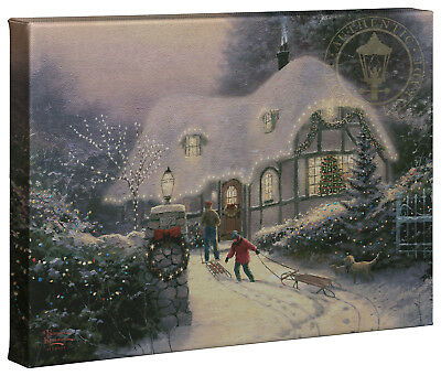 Thomas Kinkade Holiday Collection (2) 10x14 Gallery Wrapped Canvas (Choice of 4)