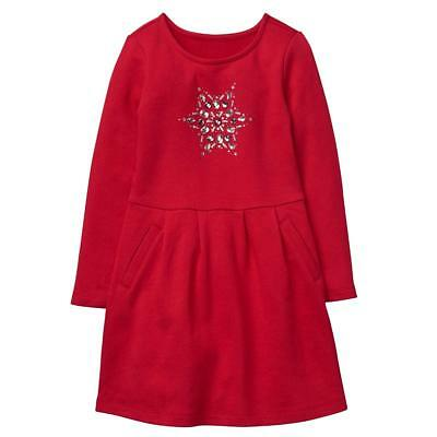 NWT Gymboree North Pole Party Red Snowflake Dress Girls Holiday shop