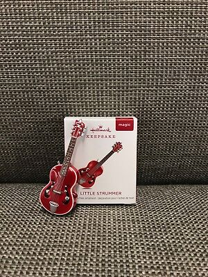 Hallmark 2018 Little Strummer Mini Guitar Magic Christmas Ornament *NIB*