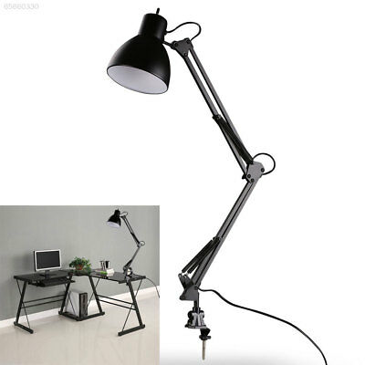 26B0 LED Flexible Swing Arm Clamp Table Desk Lamp Reading Lighting Fixture E27
