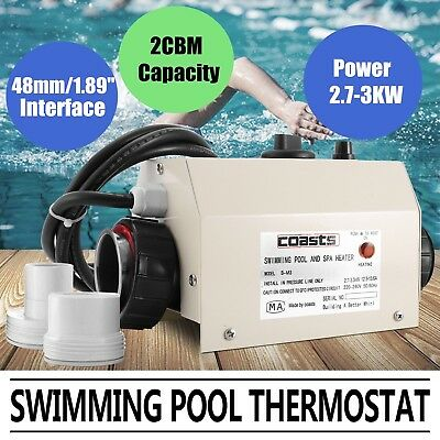 3KW 220V Swimming Pool SPA Bath Hot Tub Electric Water Heater Heating Thermostat