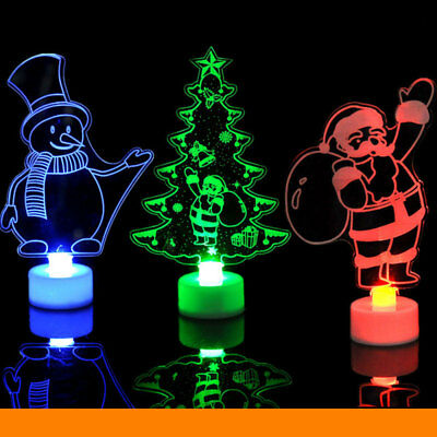 Colors LED Night Light Lamp Christmas Kids Child Gift Party Home Window Decor