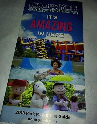 Dorney Park And Wildwater Kingdom Park And Fun Guide 2018 Brochure