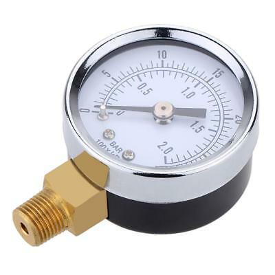 "Mini Pressure Gauge For Fuel Air Oil Or Water 1/4"" 0-200/0-30/0-60/0-15 PSI GL"