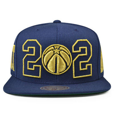 sale retailer 58396 5393a Washington Wizards 202 GOLD AREA CODE Snapback Mitchell   Ness NBA Hat -  Navy