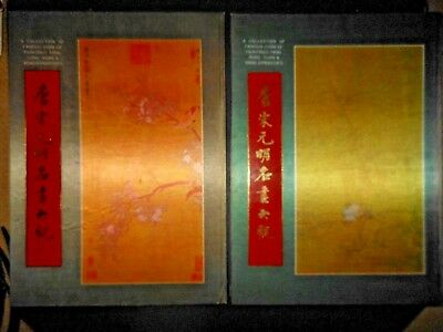 Set of 2 Chinese Famous Painting Collection Books Tang Song Yuan Ming Dynasties