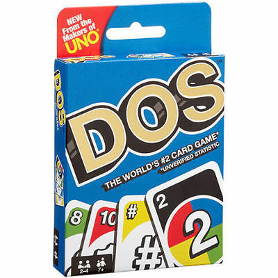 """DOS Card Game NEW """"IN STOCK""""  by the Makers of Uno (Mattel)"""