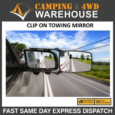 2 x  CLIP ON CARAVAN - TRAILER Towing Mirror Large QFM86 FREE FAST DELIVERY